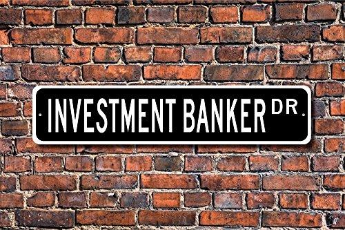 Aersing Investment Banker Geschenk Schild Bank Mitarbeiter Investitionen Yard Zaun Auffahrt Straßenschild Indoor Outdoor Deko